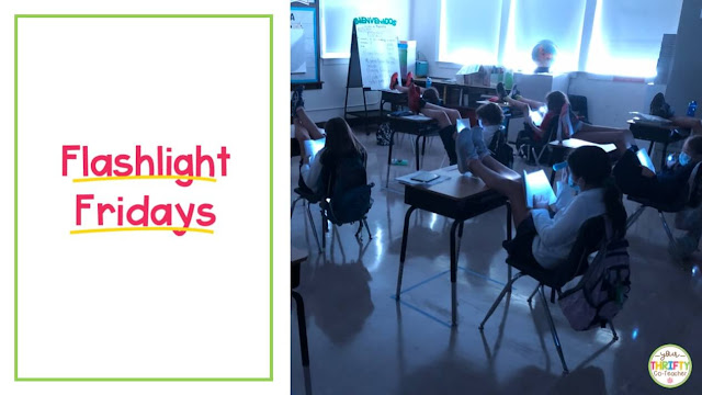 Flashlight Fridays are a fun way to engage students who have to socially distance in the classroom.