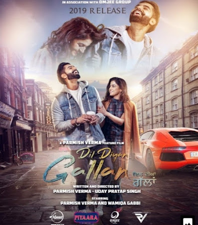 Poster Of Pollywood Movie Dil Diyan Gallan 2019 300MB HDRip 480P Full Punjabi Movie