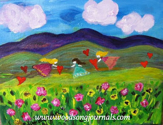 Flower Fairies Painting by Sandy Jones Ojai California