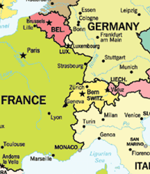 MAP OF GERMANY AND FRANCE Recana Masana