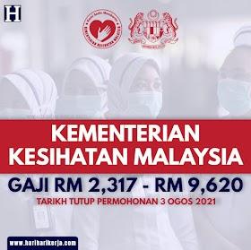 Jawatan Kosong Kementerian Kesihatan Malaysia ~ GAJI RM 2,317 - RM 9,620