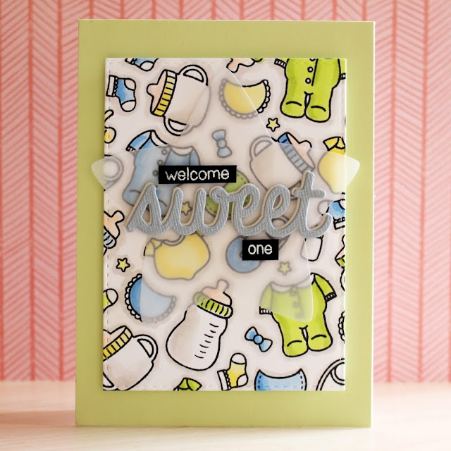 Sunny Studio Stamps: Baby Bear Boy Card by Eloise Blue (with video tutorial)