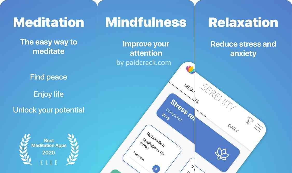 Serenity - Guided Meditation Premium Mod Apk 2.20.2