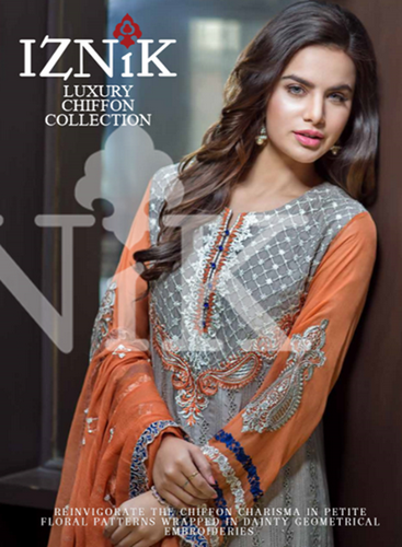Iznik Luxury Chiffon Fabric 2016-2017