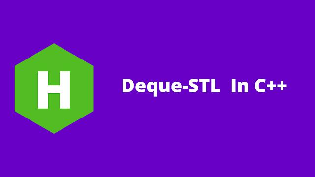 HackerRank Deque-STL in C++ problem solution
