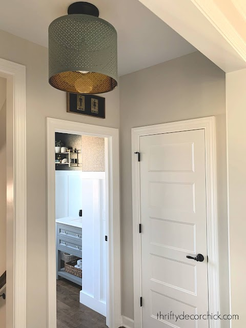 How to hang a light fixture from a recessed light from Thrifty Decor Chick