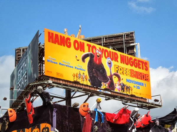 Free Birds Hang on to your nuggets billboard