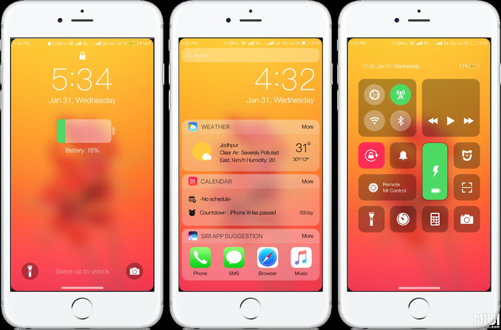 V9 Theme][MiBoSe] BoSe iOS 11 6X Pro - Papuntu (MIUI Theme)