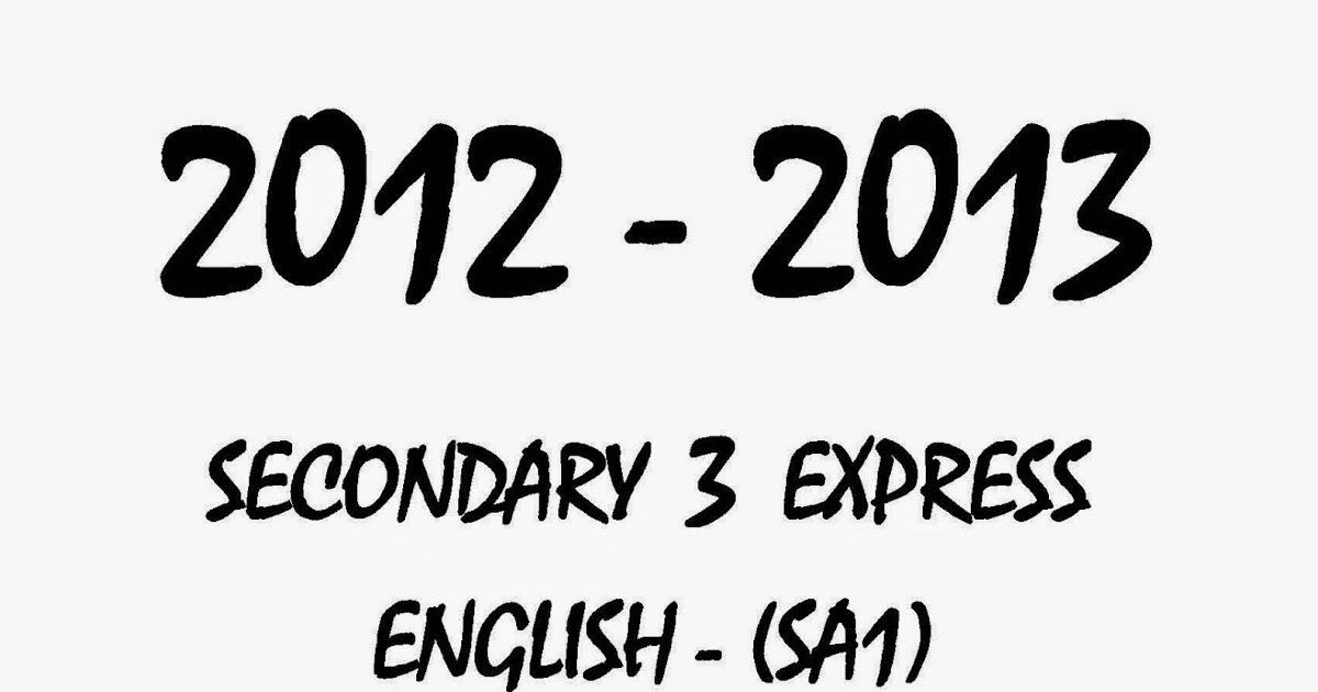 Top Primary School Exam Paper : Secondary 3