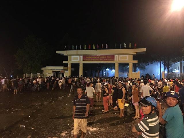Bạo động tại Bình Thuận do người dân quá kích