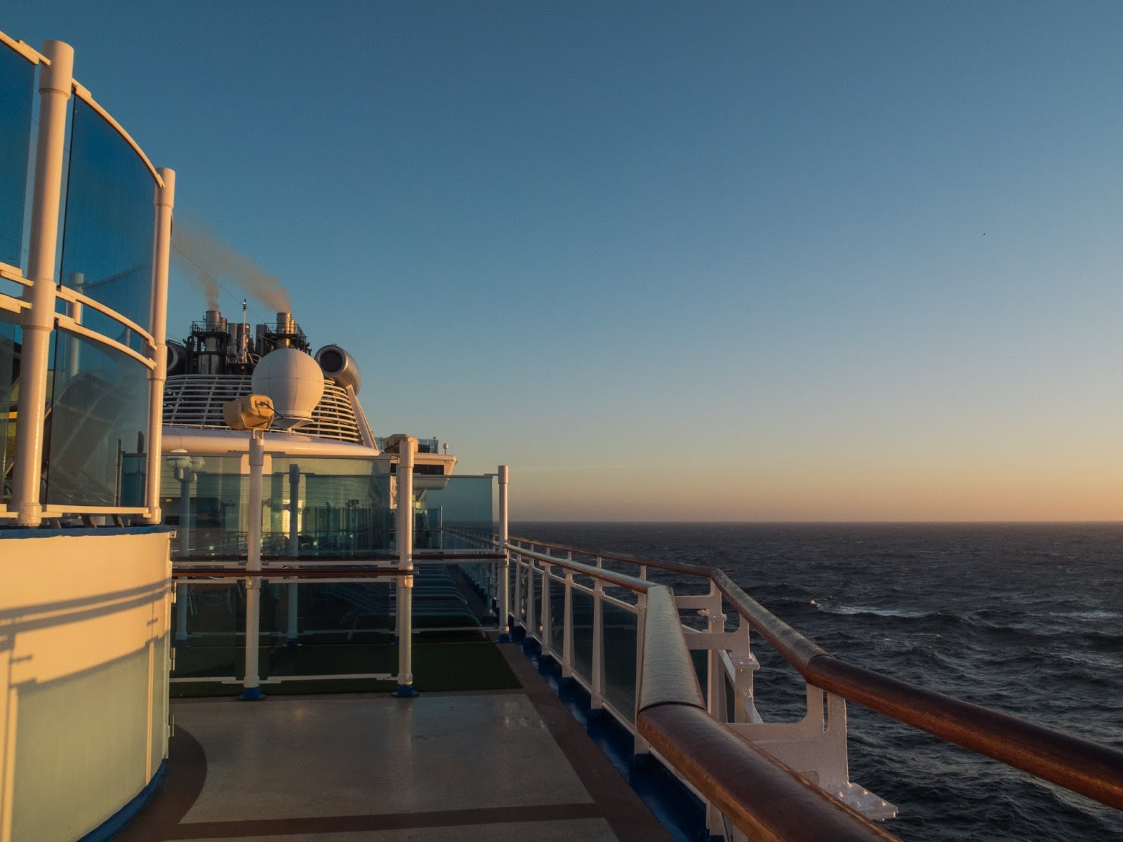 Early morning light on the Atlantic Ocean from the Sapphire Princess.