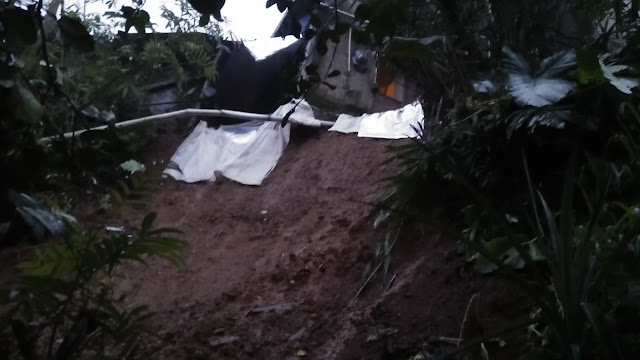 Akibat Hujan Deras Desa Badak Terdampak Longsor
