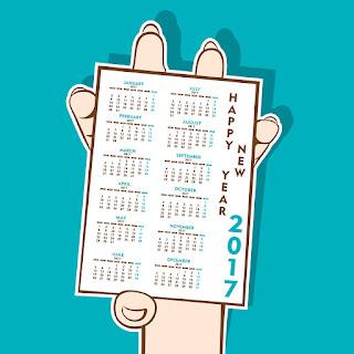 2017カレンダー無料テンプレート164