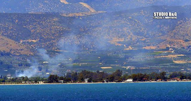 Αργολίδα: Και δεύτερη φωτιά στο Κεφαλάρι Άργους - Ορατοί από το Ναύπλιο οι καπνοί