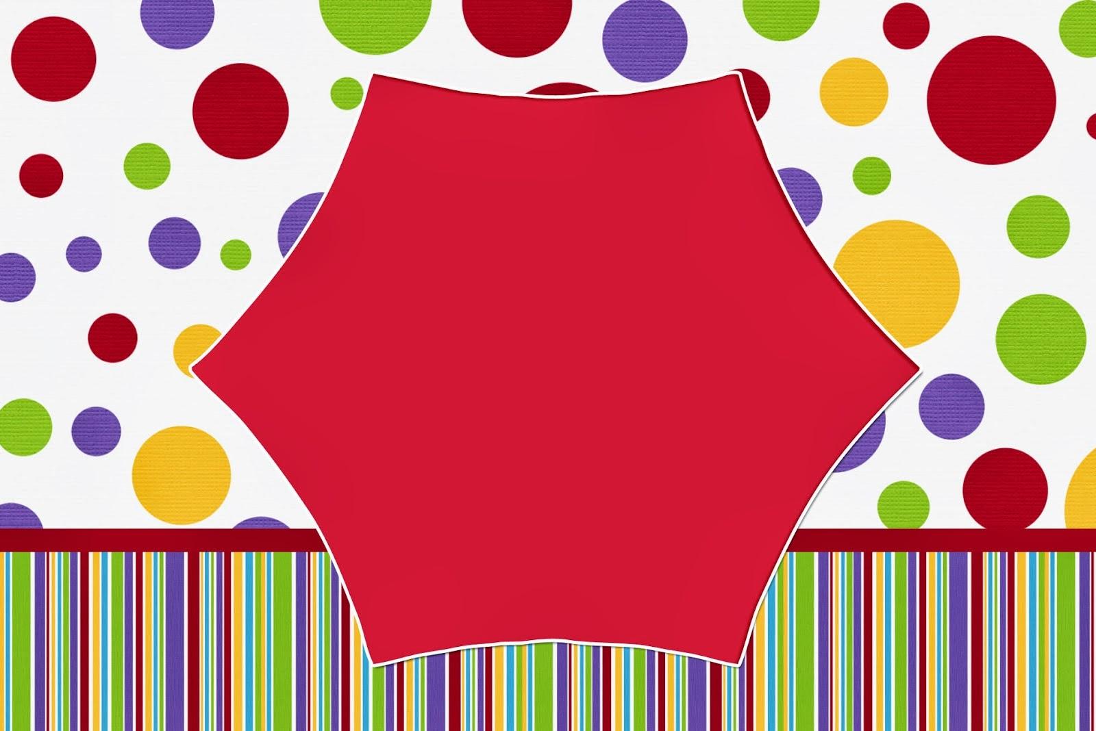 Rojo, Morado, Verde Y Amarillo: Tarjetas O Invitaciones