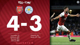 Arsenal 4-3 Leicester City Video Gol & Highlights