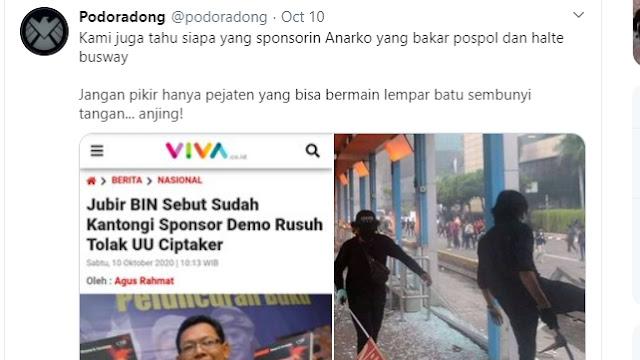 Admin @podoradong Ditangkap Terkait Demo Ricuh, Dijerat Pasal Keonaran