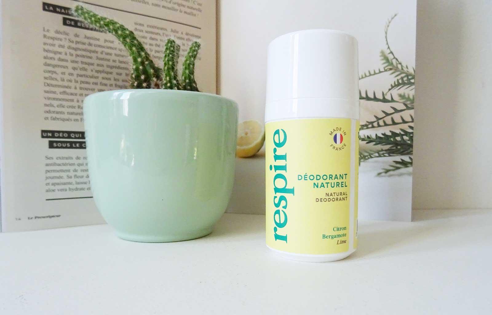 Respire, déodorant naturel citron bergamote
