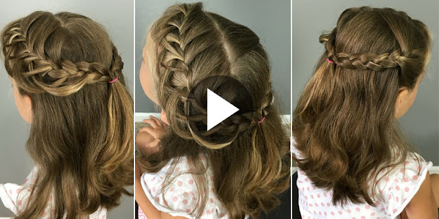 How To Create Criss Crossed Loop Braid Hairstyle
