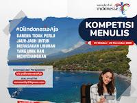 Kompetisi Menulis #DiIndonesiaAja Tingkat Nasional 2020, Gratis