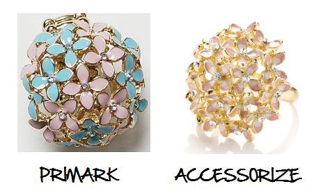 Clones 2011 anillo Dior Accesorize Primark
