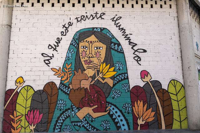 Mural Al que Esté Triste Ilumínale, por Ruth Juan - Bilbao, por El Guisante Verde Project