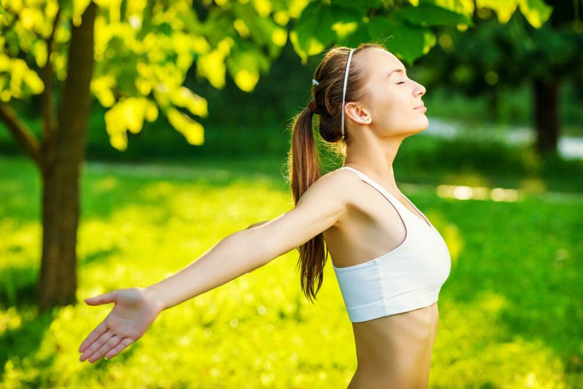 Ejercicio respiratorio saludable
