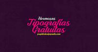 Hermosa colección de Tipografías profesionales gratuitas