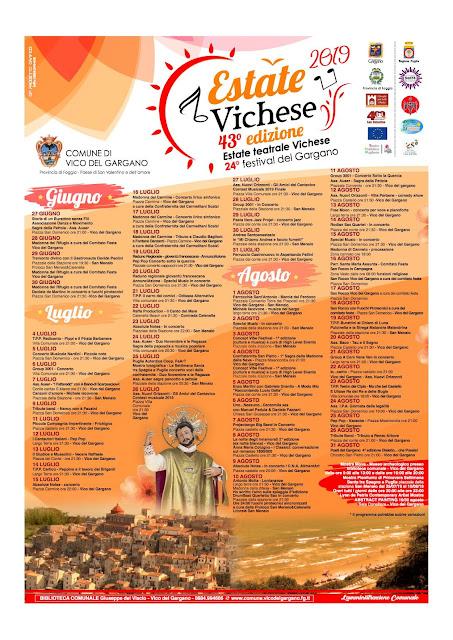Estate Vichese, il programma: arrivano 300 giovani da tutta la Puglia
