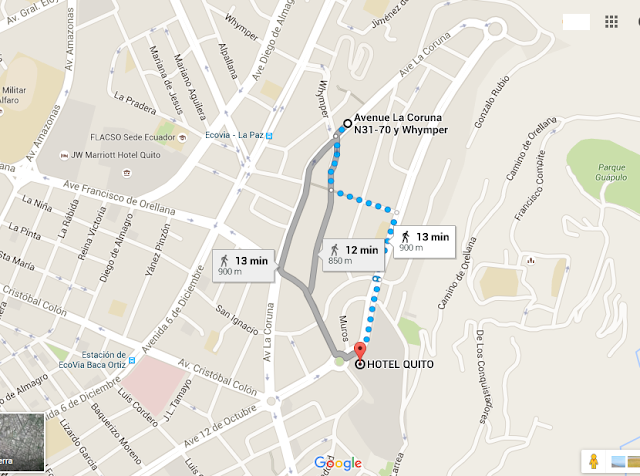 mapa - Hotel en Quito - Hotel Quito