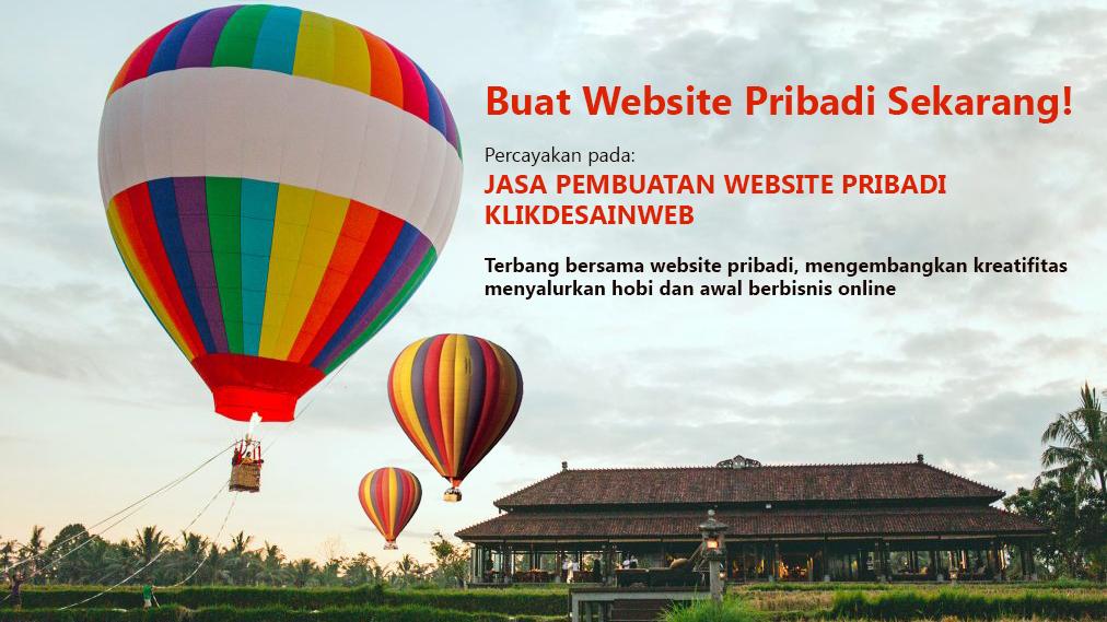 website pribadi,website personal,jasa pembuatan website pribadi