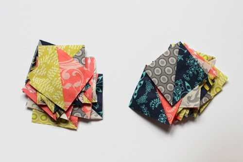 Half-Square Triangle Zipper Pouch and Key FOB Tutorial | InColorOrder.com