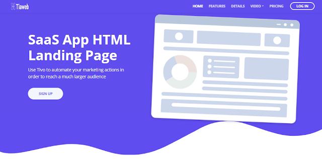 Template Landing Page Tivo