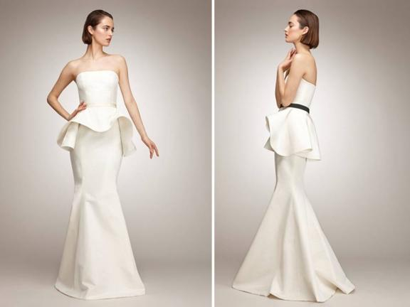 What Are We Thinking Of Peplum Bridal Gowns?