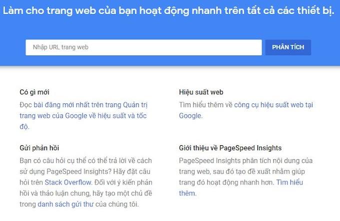 PageSpeed Insights kiểm tra tốc độ trang web