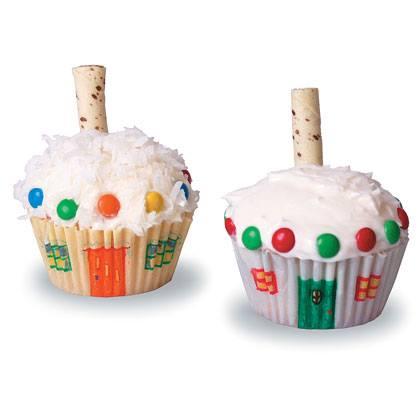 Snowy Cupcake Cabins