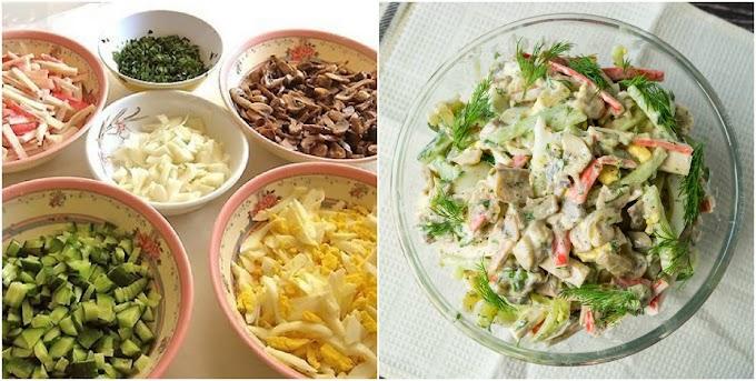 Ніжний та смачний салат «Оленка». Усі хто попробує, просить рецепт