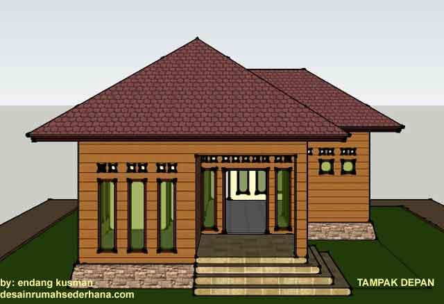 Desain Rumah Tampak Depan Samping Dan Atas  Wall PPX