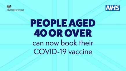 300421 People aged 40 or over can book their COVID jab text