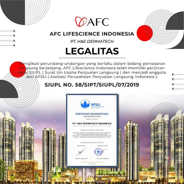 legalitas AFC Lifescience