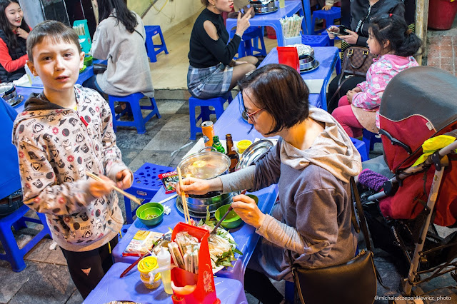 Hotpot w restauracji w Ho Chi Minh
