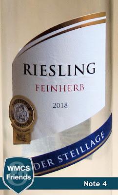 Riesling Steillage feinherb Nahe 2018