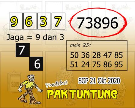 Prediksi Pak Tuntung SGP Rabu 21 Oktober 2020
