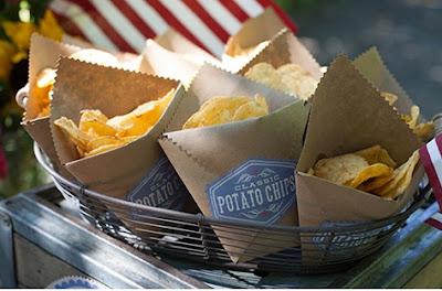 cómo hacer bolsas para palomitas, como hacer bolsas para frituras, bolsas de papel kraft para papas fritas,