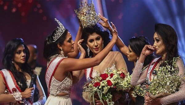 Mrs. Sri Lanka Fights on Stage in the Competition, Winning Woman Injured