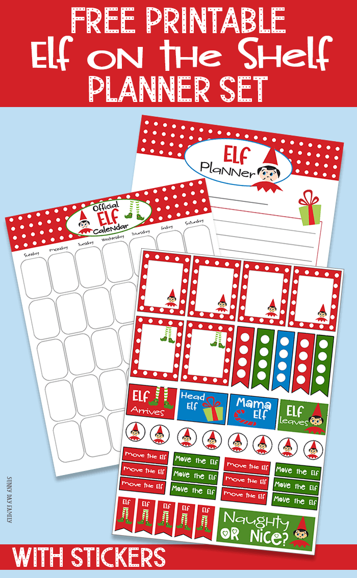FREE printable Elf on the Shelf Planner Set! Includes Elf calendar, Elf planning pages and Elf on the Shelf planner stickers. Plan your elf on the shelf ideas with these planning pages - work with Happy Planner and more! #elfontheshelf #elfontheshelfideas #plannerstickers #christmasplanner #christmas #planner