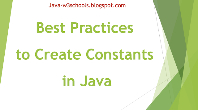 How to Create A Java Constants Variable (Static/Final modifiers keywords?)
