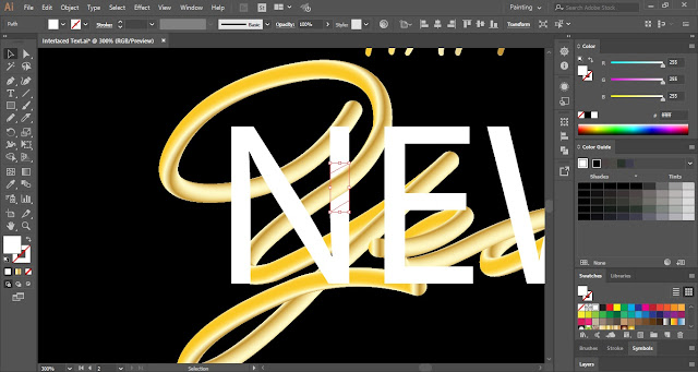 Interlaced Text Effect in Adobe Illustrator