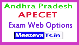 Andhra Pradesh APECET Exam Web Options