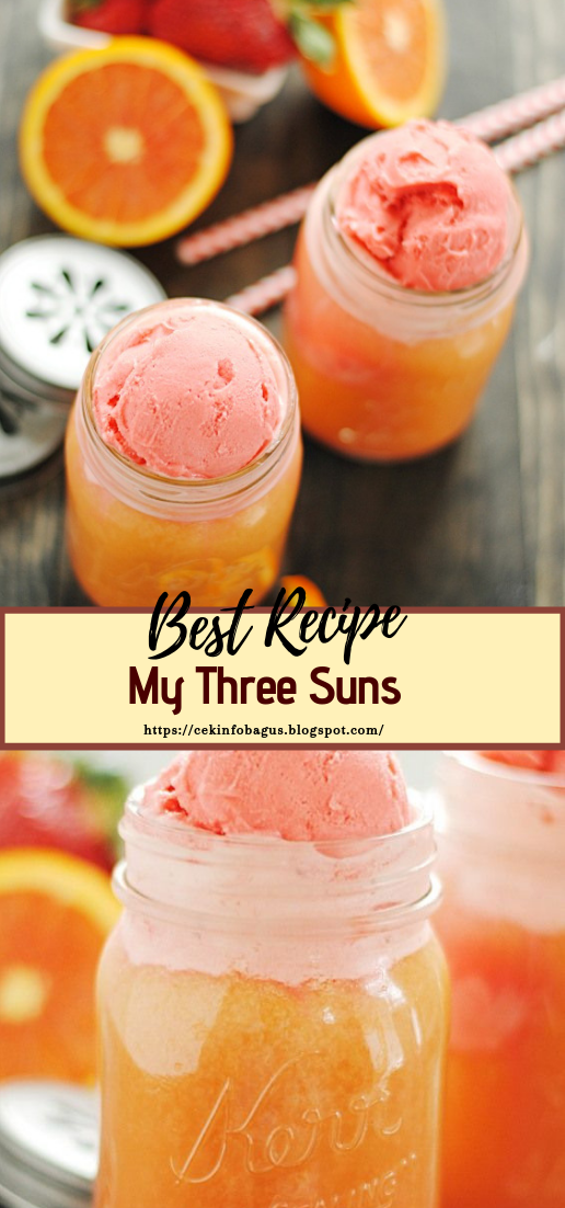 My Three Suns  #healthydrink #easyrecipe #cocktail #smoothie
